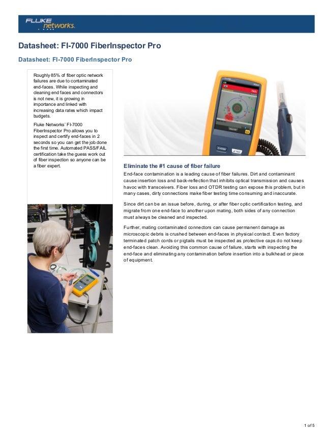 1.25 mm Length Fluke Networks FI1000-1.25APC-TIP APC Universal Video Patch Cord Probe Tip for the FI-1000 Fiber Inspection Video Probe