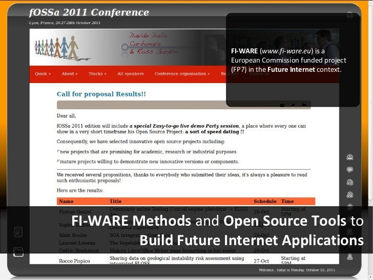 FI-WARE (www.fi-ware.eu) is a                       European Commission funded project                       (FP7) in the ...