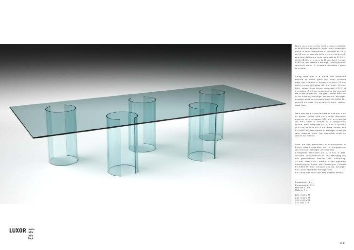 Fiam Tavoli In Cristallo.Fiam Catalogo Home Office 2010