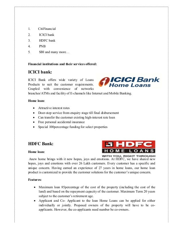 evaluation of services offered by hdfc