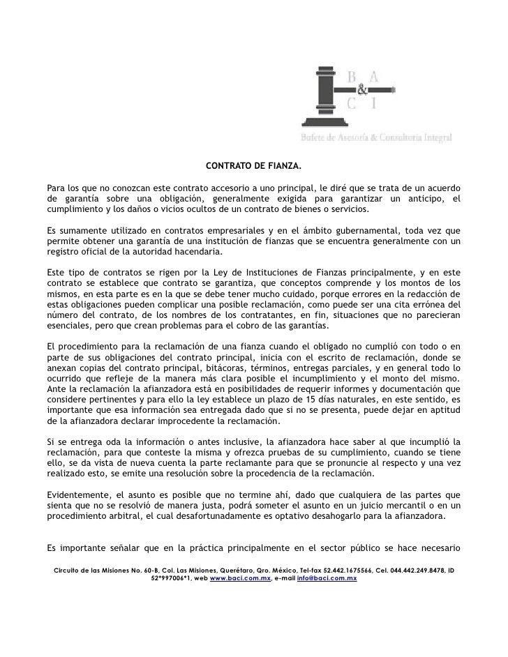 FIANZA DE VICIOS OCULTOS EBOOK