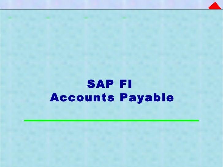 SAP FI  Accounts Payable