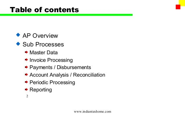 SAP FI - Account Payable (AP) Slide 2