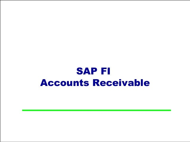 SAP FIAccounts Receivable