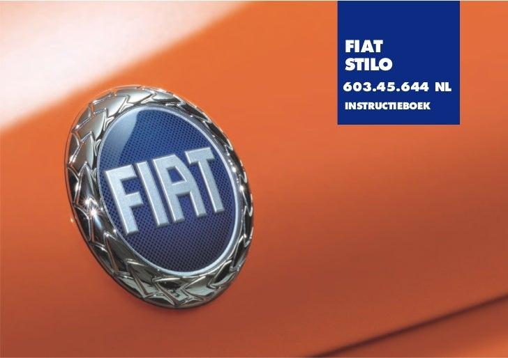 FIATSTILO603.45.644 NLINSTRUCTIEBOEK