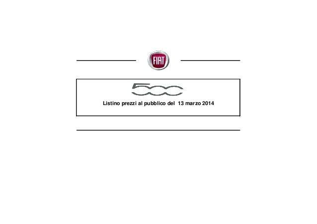 Listino prezzi al pubblico del 13 marzo 2014