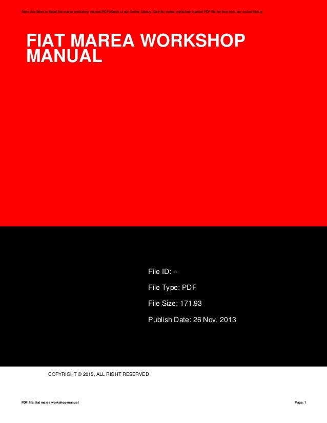 fiat marea workshop manual rh slideshare net marauder manual swap marauder manual swap