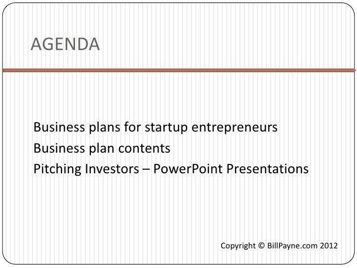 Investor Business Plans