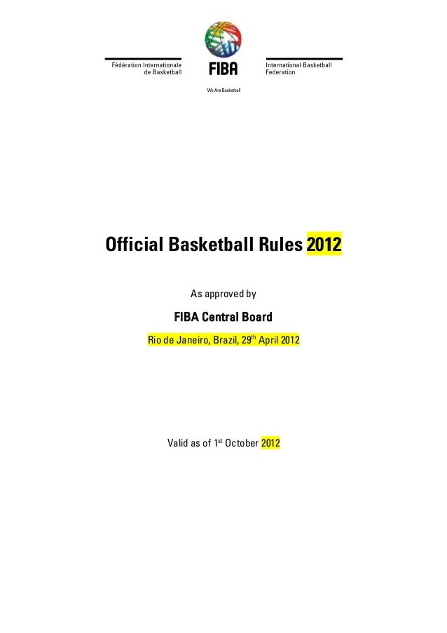 Fiba Official Basketball Rules 2012