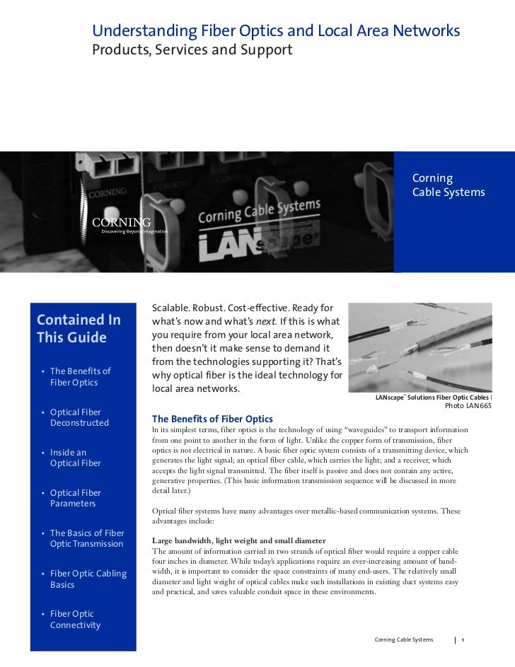 Understanding Fiber Optics and Local Area Networks            Products, Services and Support                              ...