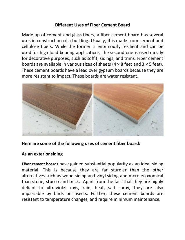 Uses For Cement Board : Fiber cement board