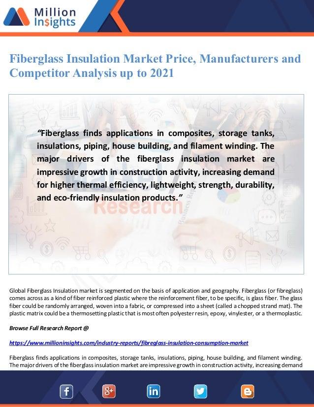 Fiberglass insulation market price, manufacturers and