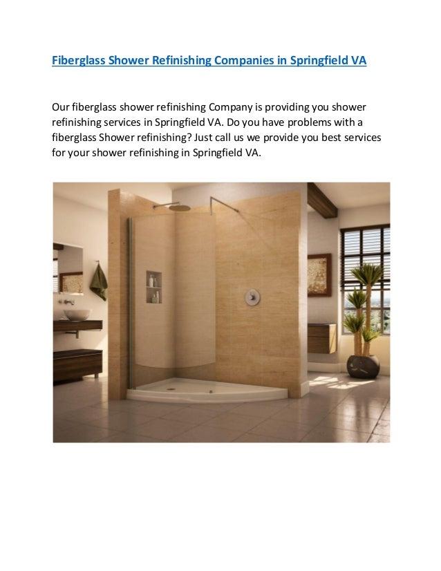 Fiberglass shower refinishing companies in springfield va