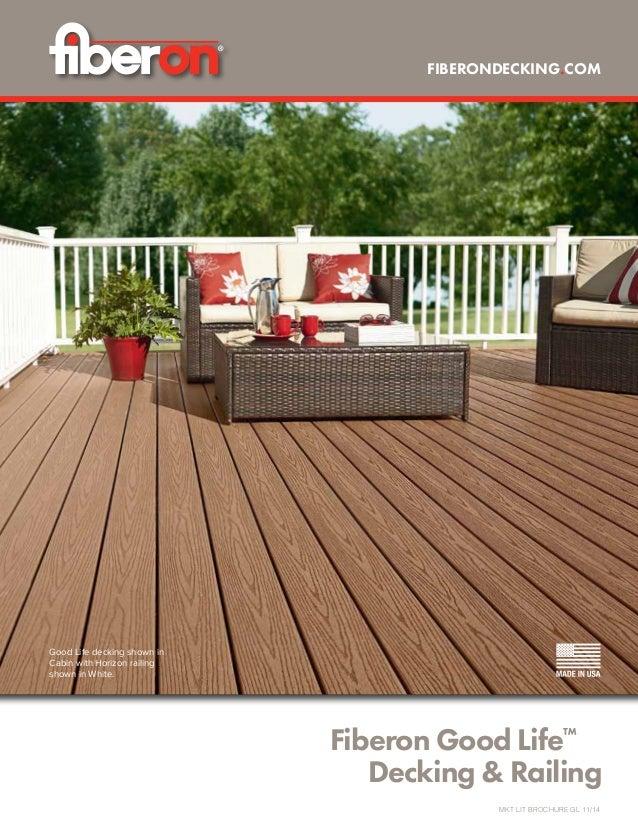 Fiberon Good Life™  Decking & Railing Good Life decking shown in Cabin with Horizon railing shown in White. FIBERONDECKIN...