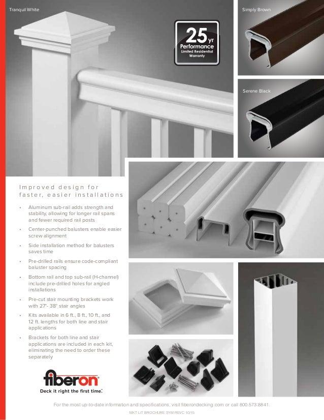 Fiberon symmetry Railing brochure