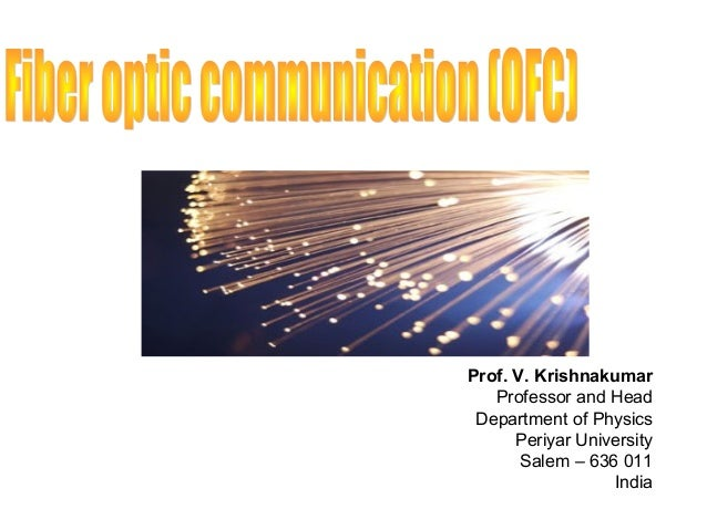 Communication fiber palais pdf optic