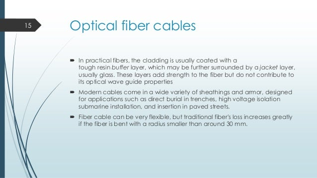 fibre optics essay An optical fiber is a thin fiber of glass or plastic that can carry light from one end to  the other the study of optical fibers is called fiber optics, which is part of.