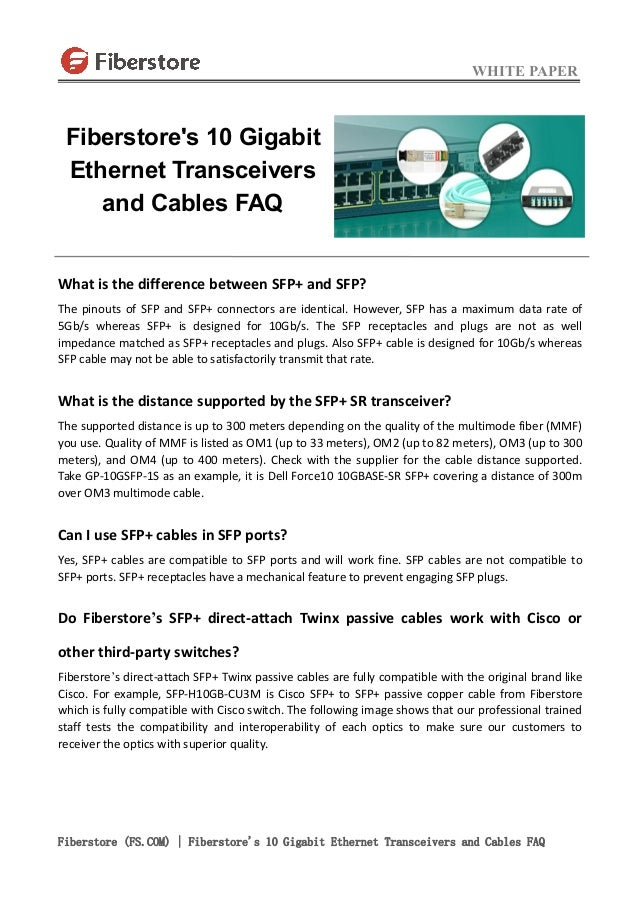 Fiberstore S 10 Gigabit Ethernet Transceivers And Cables Faq