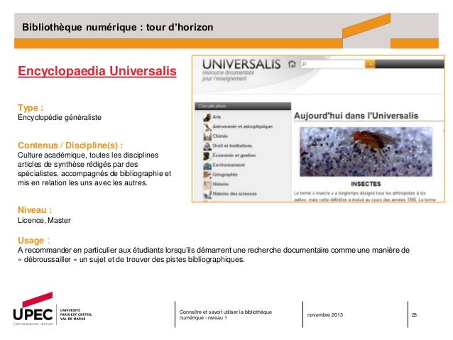 encyclopedie universalis upec