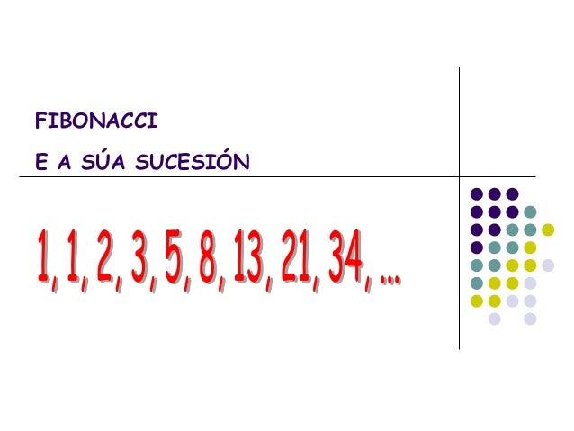FIBONACCIE A SÚA SUCESIÓN