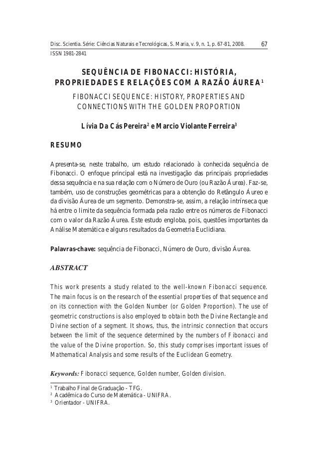 Disc. Scientia. Série: Ciências Naturais e Tecnológicas, S. Maria, v. 9, n. 1, p. 67-81, 2008. 67  ISSN 1981-2841  SEQUÊNC...