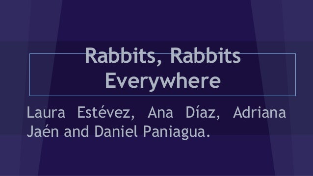 Rabbits Everywhere Laura Estvez Ana Daz Adriana Jan And Daniel Paniagua
