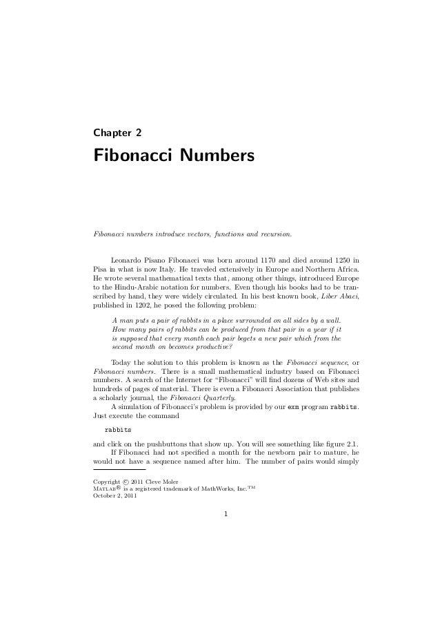 Fibonacci using matlab