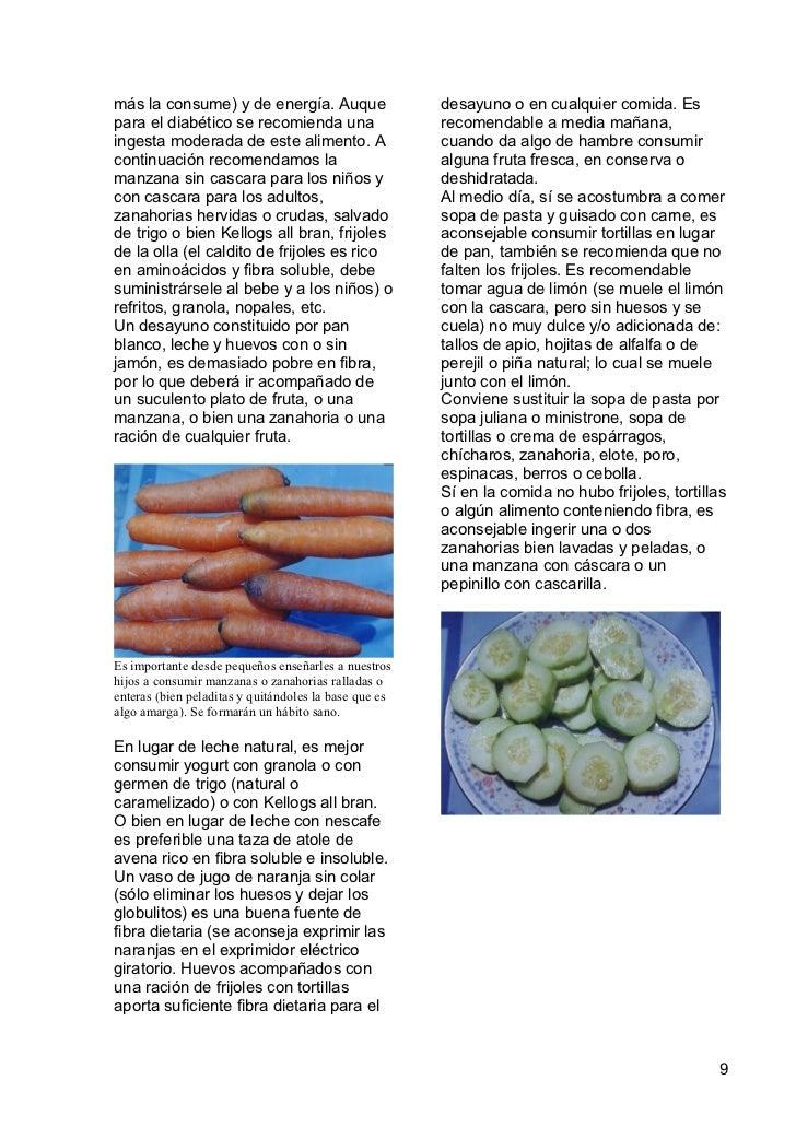 Fibra dietaria en la nutrici n - Alimentos ricos en fibra para ninos ...
