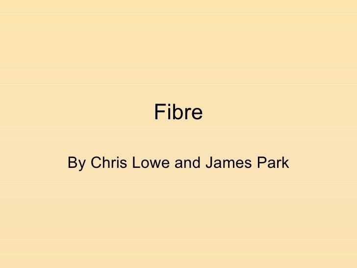 Fibre By Chris Lowe and James Park