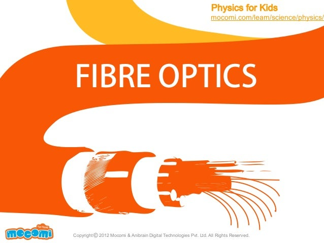 Physics for Kids  mocomi.com/learn/science/physics/  FIBRE OPTICS  F UN FOR ME!  Copyright © 2012 Mocomi & Anibrain Digita...