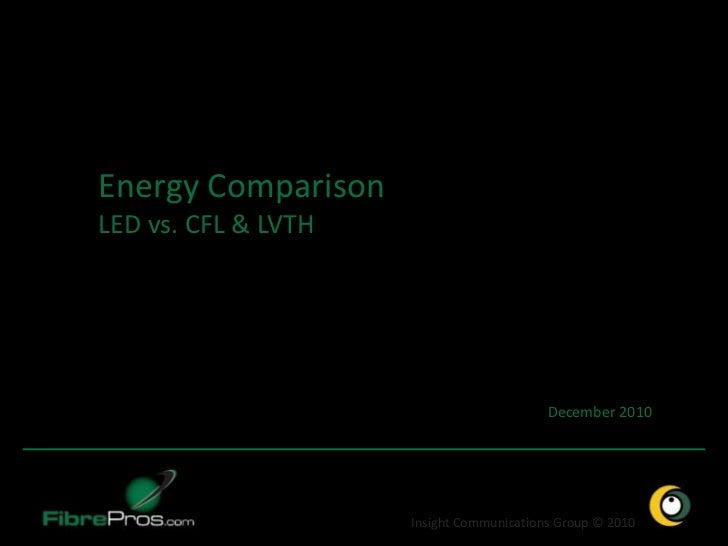 Energy ComparisonLED vs. CFL & LVTH                                          December 2010                     Insight Com...