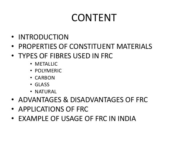 Types Of Natural Fibres Used In Concrete
