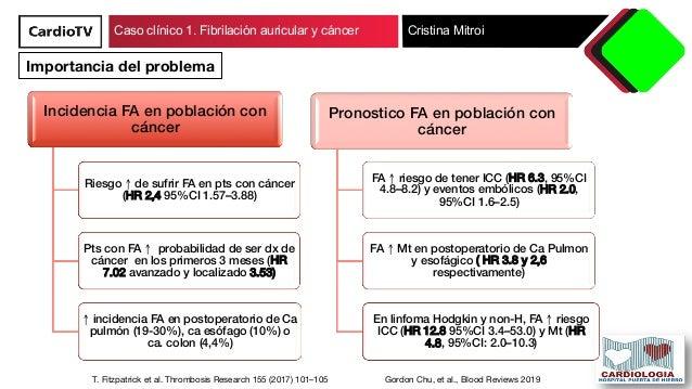 Caso clínico 1. Fibrilacion auricular y cáncer Slide 3