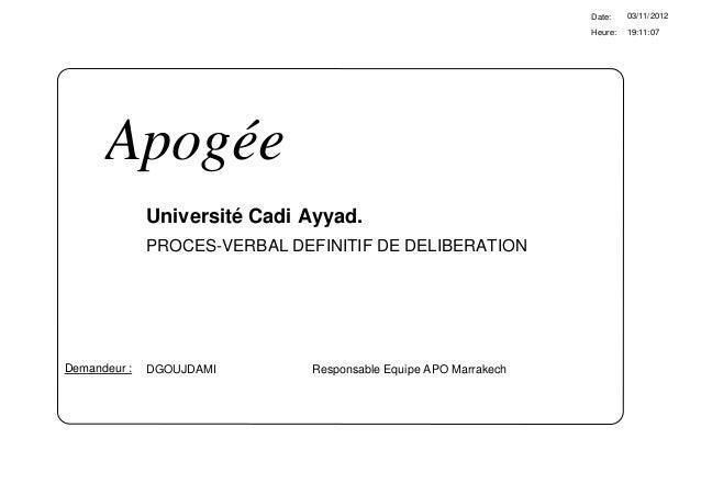 Date:    03/11/2012                                                                  Heure:   19:11:07      Apogée        ...