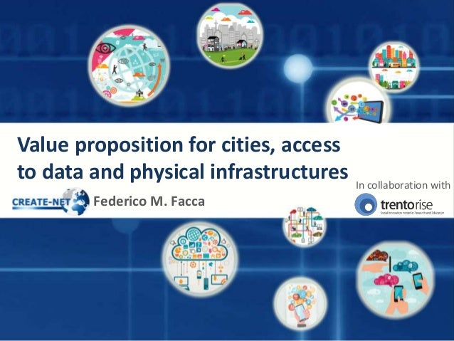 Value proposition for cities, access to data and physical infrastructures Federico M. Facca In collaboration with
