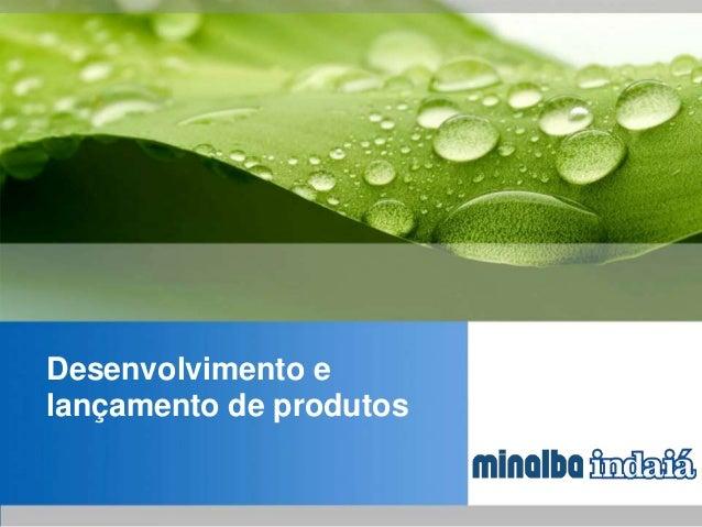 Desenvolvimento e lançamento de produtos
