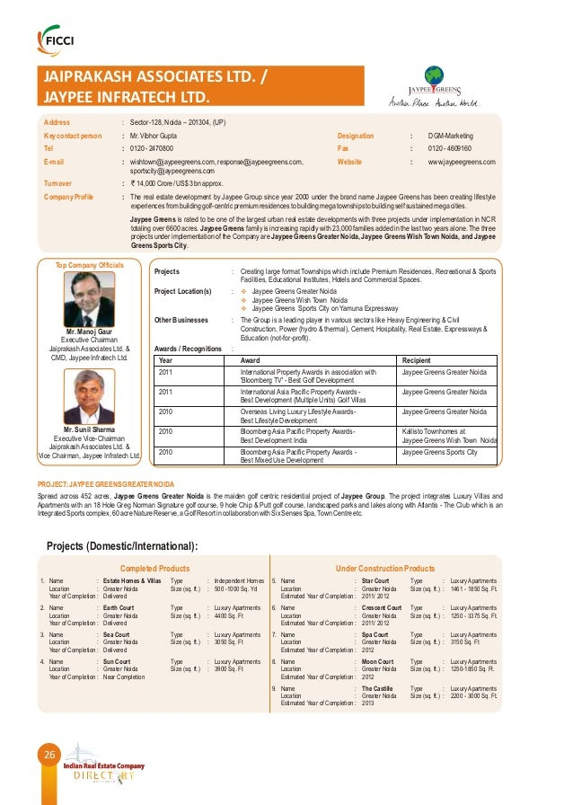 FICCI India Real Estate Directory - 2011