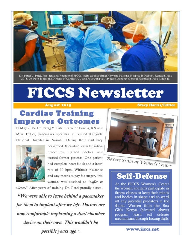 Dr. Parag V. Patel, President and Founder of FICCS trains cardiologist at Kenyatta National Hospital in Nairobi, Kenya in ...