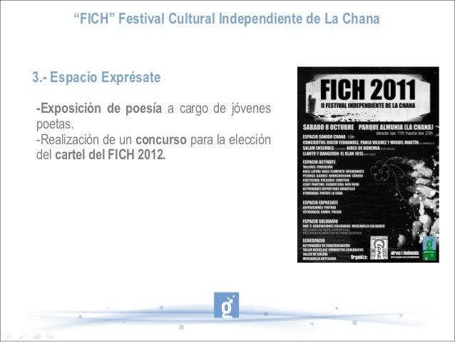 """""""FICH"""" Festival Cultural Independiente de La Chana3.- Espacio Exprésate-Exposición de poesía a cargo de jóvenespoetas.-Rea..."""