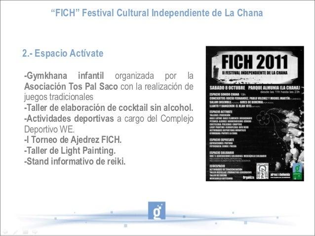 """""""FICH"""" Festival Cultural Independiente de La Chana2.- Espacio Actívate-Gymkhana infantil organizada por laAsociación Tos P..."""