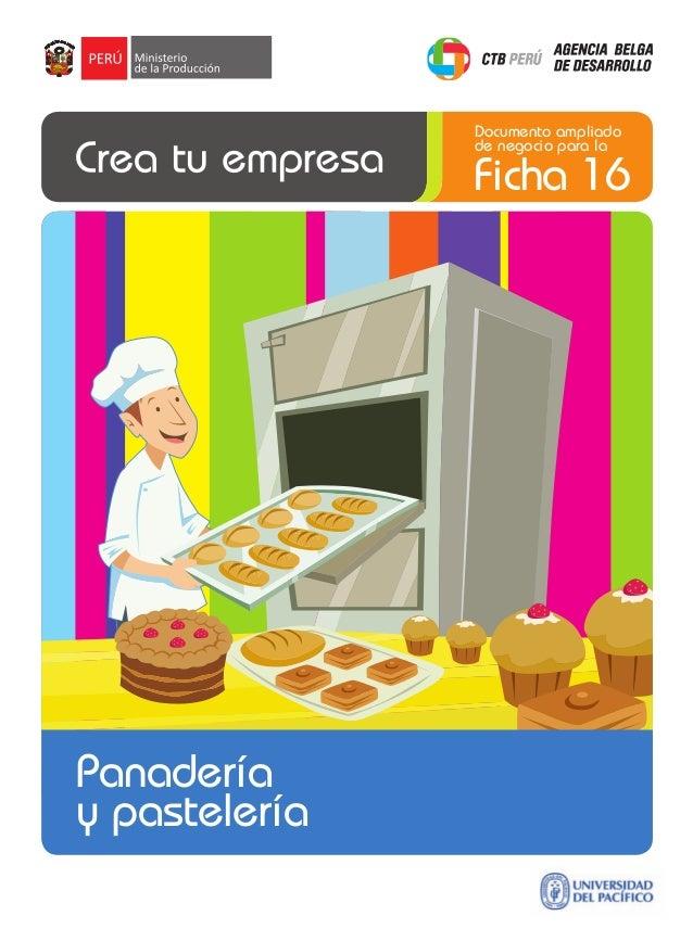 Documento ampliado de negocio para la  Ficha 16  Panadería y pastelería