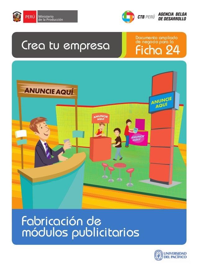 Documento ampliado de negocio para la  Ficha 24  Fabricación de módulos publicitarios