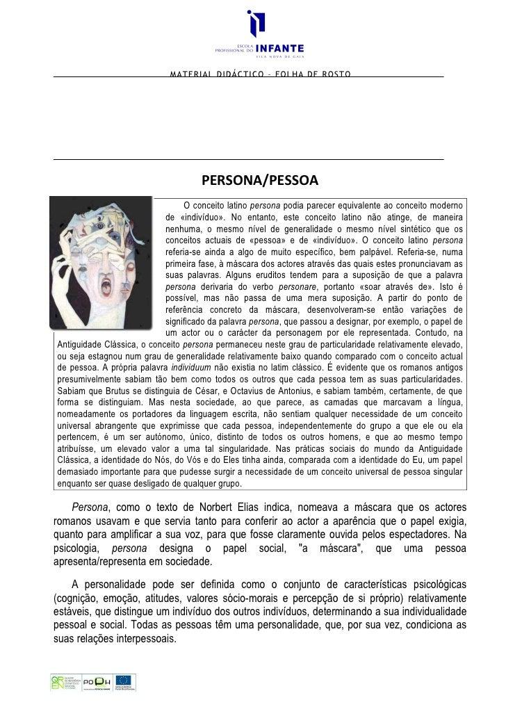 MATERIAL DIDÁCTICO – FOLHA DE ROSTO                                          PERSONA/PESSOA                               ...