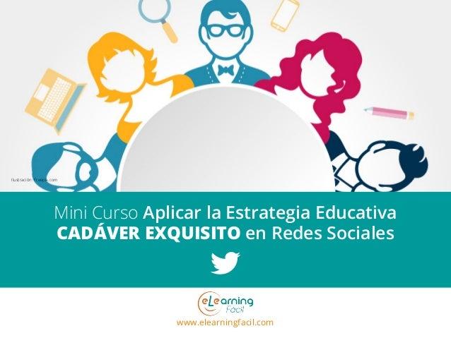 www.elearningfacil.com Mini Curso Aplicar la Estrategia Educativa CADÁVER EXQUISITO en Redes Sociales Ilustración: Freepik...
