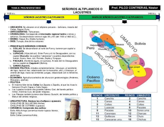 TEMA 8: PREUNIVERSITARIO                                                            SEÑORIOS ALTIPLANICOS O             Pr...