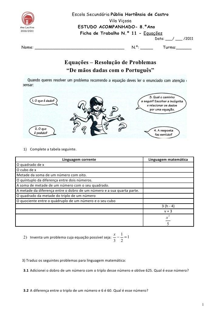 Ficha  11 problemas