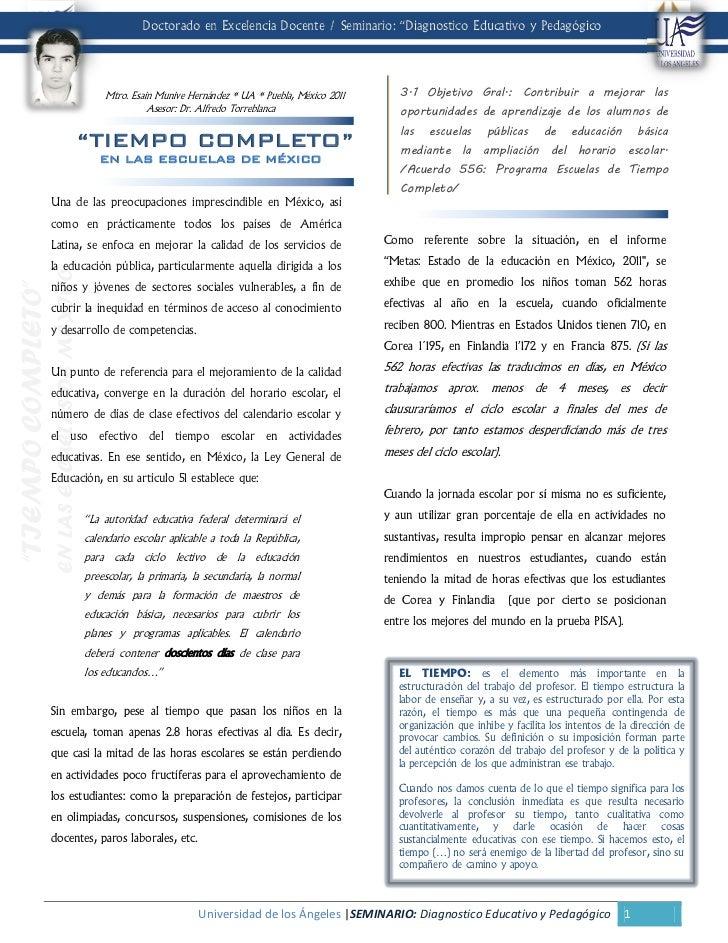 """Doctorado en Excelencia Docente / Seminario: """"Diagnostico Educativo y Pedagógico"""".                                        ..."""