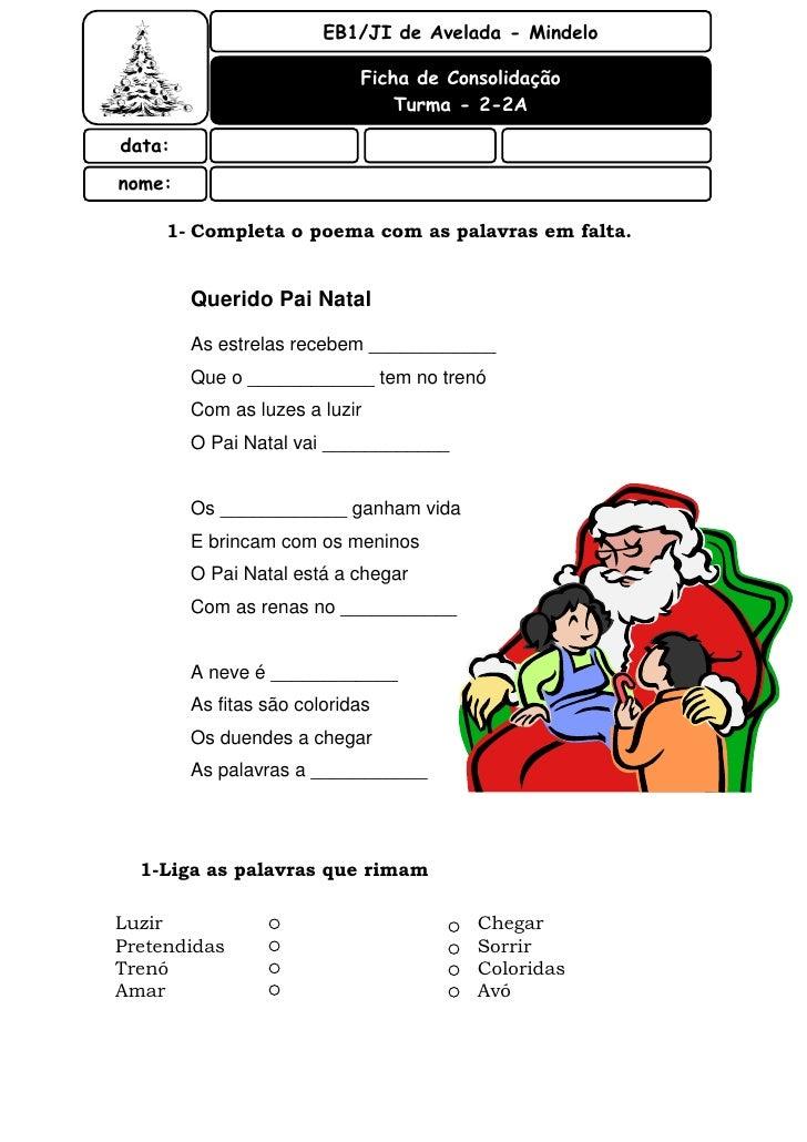 EB1/JI de Avelada - Mindelo                              Ficha de Consolidação                                 Turma - 2-2...