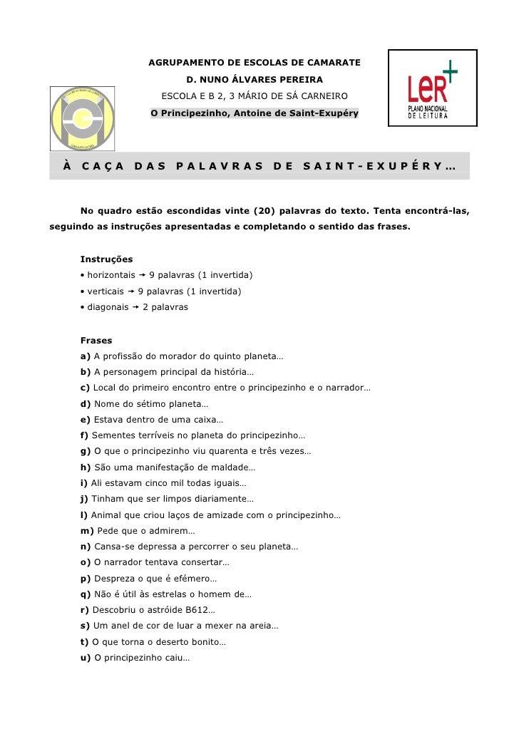 AGRUPAMENTO DE ESCOLAS DE CAMARATE                              D. NUNO ÁLVARES PEREIRA                         ESCOLA E B...