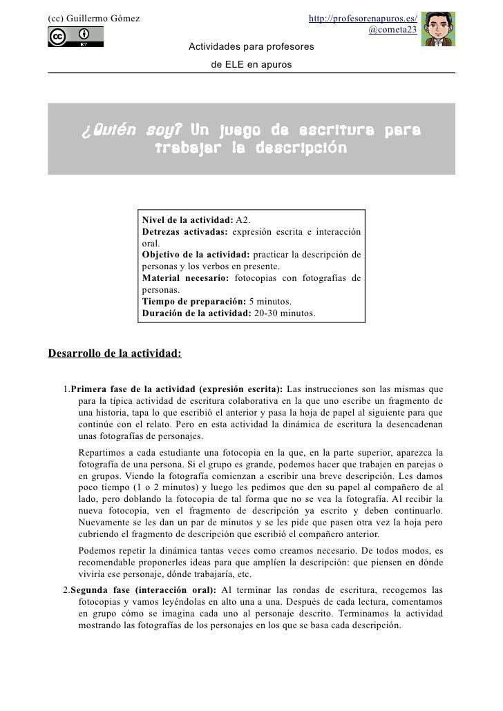 (cc) Guillermo Gómez                                            http://profesorenapuros.es/                               ...